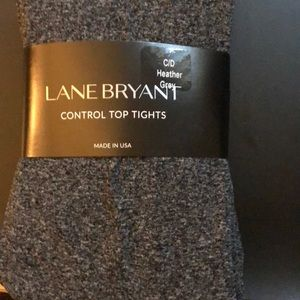 Lane Bryant control top heather grey tights